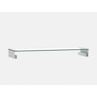 Jahnke 51Z41 Funktions-Glasaufsatz, Echt-Aluminium geschliffen, ESG-Sicherheitsglas, klarglas, 82 x 40 x 12 cm
