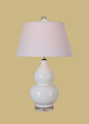 Superior White Gourd Lamp With Crystal Base