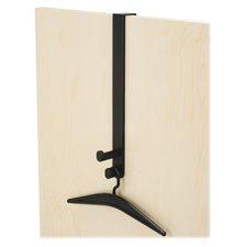 Safco Over The Door Dbl Hook w/Hanger, 1-3/4'', Black