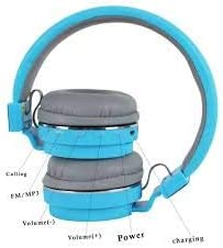 Auriculares Bluetooth Sonido SH12 - Wireless Headphone (Negro)