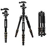 ZOMEi Q666 Tripod Magnesium Aluminum Alloy Light Weight Portable Camera Tripod 14.5inch Travel