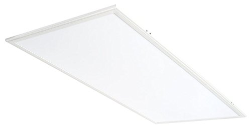 - 2x4' LED Flat Panel Light: 50W Recessed Drop Ceiling Light - Troffer | 4000K White EDGE-LIT Lighting | 5952 Lumens - Dimmable & Easy Installation