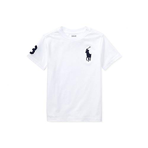 (Polo Ralph Lauren Baby Boy Big Pony Crewneck Tee, White, 24)
