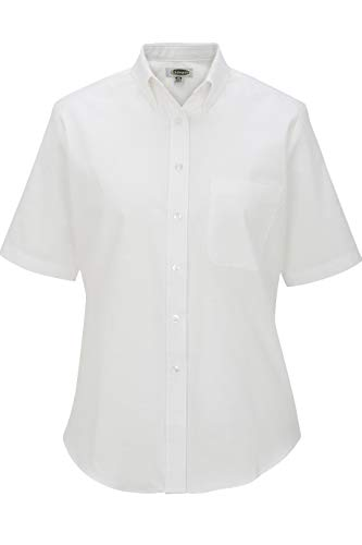Edwards Ladies' Short Sleeve Oxford Shirt 2XL White ()