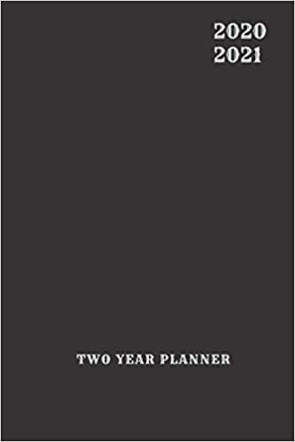 2 Year Planner 2020-2021 Black For Men Two Years Monthly ...