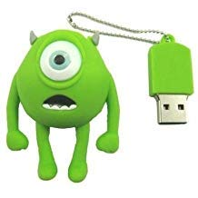 16GB Mini Mike, Wazowski, Monster Inc. Shaped Cute Cartoon USB Flash Drives, Data Storage Device, USB Memory Stick Pen, Thumb Drive (Gb 16 Usb Shaped)