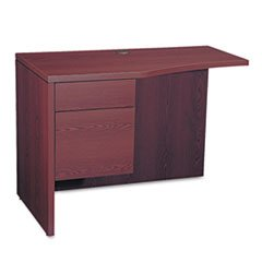Hon 10500 Series Curved (HON 105818LNN 10500 Series Curved Return, Left, 42w x 18-24d x 29 1/2h, Mahogany)