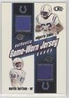 Peyton Manning; Marcus Pollard; Edgerrin James; Marvin Harrison (Football Card) 2002 Pacific Heads Up - Game Worn Jersey Quads #15