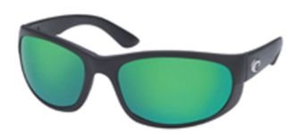Costa Del Mar Howler 580P Howler, Black Green Mirror, Green - Howler 580p Costa