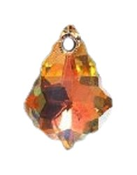 Swarovski 6090 Baroque Pendants, Aurora Borealis, Crystal, 11 by 16mm, 2-Pack ()