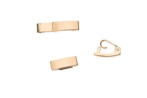 Bracelet Buckle/Watch Clasp Fold-Oval Buckle 14K Gold Finished Copper, 10X2.5mm sold per 10pcs