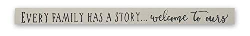 """PBW /""""Every Family Has a Story.Welcome to Ours/"""" Handmade Decorative Wooden Welcome Sign Tan 18/"""""""