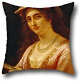 Pillowcover Of Oil Painting Dürck, Friedrich - A Neapolitan Woman 20 X 20 Inches / 50 By 50 Cm,best Fit For Wedding,girls,dining Room,boys,kids Girls,sofa Two (Bugs Bunny Female Adult Costume)