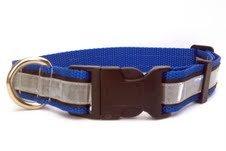 illumidog Reflective SOLAS Dog Collar, 14 to 20-Inch, Blu...