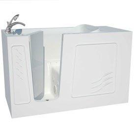 Spa World Venzi Vzb3060lwd Artisan Rectangular Air & Whirlpool Walk-In Bathtub 30x60 Left Drain Wh