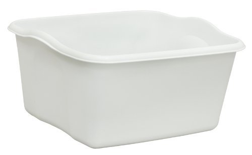 United Solutions BA0006 White Plastic Eighteen Quart Dishpan-18 Quart/17L Dishpan in White