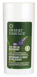 Desert Essence Tea Tree Oil Stick Deodorant w/Lavender, 2.5 Ounce