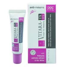 Vitara TX PPE Anti Cream Melasma Dark spot whitening freckle cream Bio White, mixed plant extract improves your skin whiter and smoother 15g.