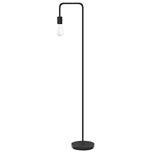 Industrial Floor Lamp - Floor Lamp with Eye Caring LED, Bulb Included, Led Floor Lamps for Bedroom, Floor Lamps for Living Room, in-line On/Off Foot Switch