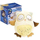 White Noise Sound Machine, Sleep Soother Owl Plush Nightlight Projector for Baby, 8 Baby-Soothing Sounds, Amniotic Fluid Sounds, Adjustable Volume