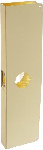 Brass Wrap Around Plate (Don-Jo 20C-CW 22 Gauge Stainless Steel Wrap-Around Plate, Polished Brass Finish, 5