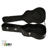 ChromaCast CC-ADHC-KIT-3 Acoustic Dreadnought Hard-Shell Guitar Case with Pick Sampler by ChromaCast