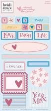 (Heidi Grace Designs Embossed Shapes Cardstock Stickers -)