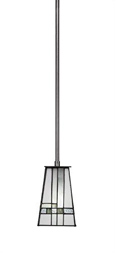 Apollo Lighting Pendant (Toltec Lighting Apollo 3 Stem Mini Pendant New Deco Tiffany Glass)