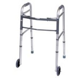 Carex FGA87100-0000 Folding Walker with Wheels