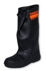 "TREDS Super Tough 17"" Pull-On Stretch Rubber Overboots for Rain, Slush, Snow and Construction, Size Medium - Image 1"