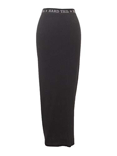 Hard Tail Ribbed Column Skirt BR-07 Black S
