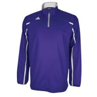 Adidas Mens Climalite Coaches 1/4 Zip Performance Pullover Jacket - Purple/White - 3XL (Pullover Zip Quarter Adidas)