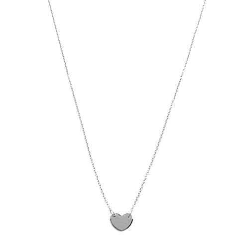 HONEYCAT Mini Heart Charm Necklace in 24k Gold Plated   Minimalist, Delicate Jewelry