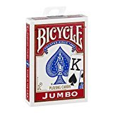 Bicycle Jumbo Index Standard Sized Poker Playing Cards - 1 Sealed Red Deck (Bicycle Clear Playing Cards)