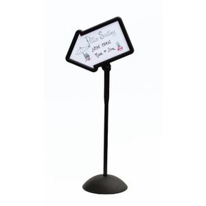 Safco Products Write Way Directional Arrow Sign 4173BL, Black, Magnetic Dual-Sided Dry Erase Board, Indoor and Outdoor -