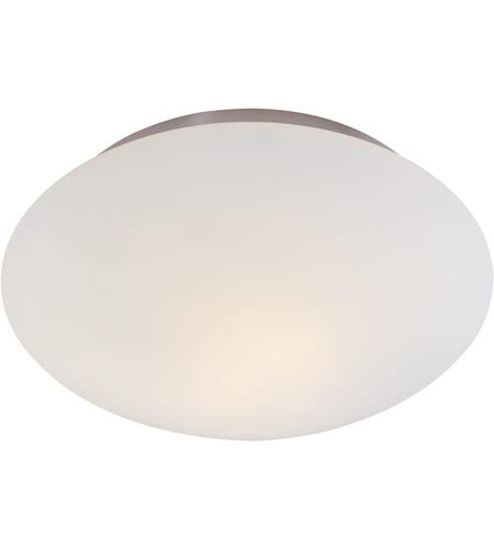 - Sonneman 4154 Mushroom 2 Light Semi-Flush Ceiling Fixture with Etched Cased Glas, Satin Nickel
