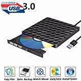 External DVD Drive USB 3.0 Burner,Optical CD DVD RW Row Reader Writer Player Portable for PC Mac OS Windows 10 7 8 XP Vista (Black)