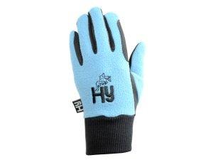 3a6174bc5df Hy5 Children's Winter Horse Riding Gloves - Black/Purple - Child Small
