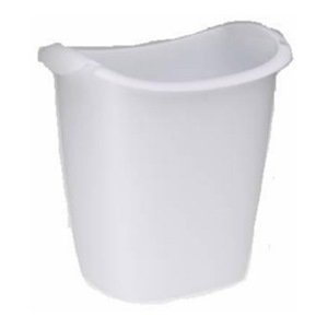 Rubbermaid FG238500WHT Recycler Wastebasket, 14-Quart, White - Grocery Trash Can Bag