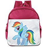 [Custom Personalized Rainbow Horse Children School Bagpack Bag For 1-6 Years Old Pink] (Mens Dallas Cowboy Football Costumes)