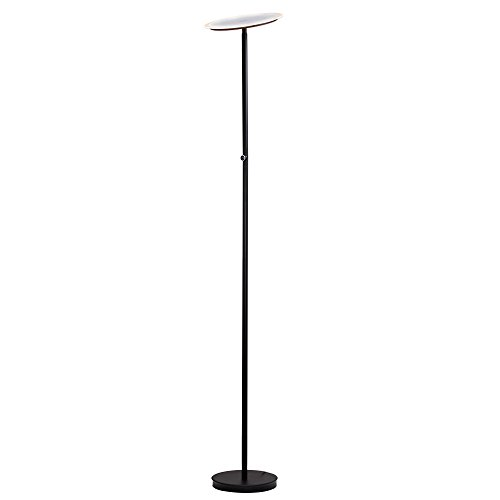 "Major-Q 3035F-BK LED Torchiere Floor Lamp Efficient Energy Saving 4-Level-Touch Dimmable Ultra Bright Lumens Light, 70"" Adjustable Head for Bedroom Living Room"