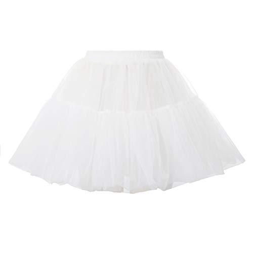 Belle Poque Damen Vintage Petticoat Reifröcke Unterrock für Rockabilly Kleid Festliches Kleid Brautkleid BPE02148