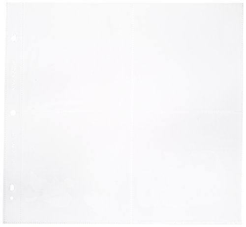 """""""Photo Protector Sleeves 12""""""""X12"""""""" 10/Pkg-For Postbound, D-Ring & 3-Ring"""""""