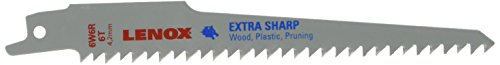 Plastic Pruning Saw - Lenox 121016W6R 6 TPI Wood and Plastic Cutting Reciprocating Saw Blade, 6