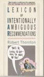 Lexicon of Intentionally Ambiguous Recommendations, Robert Thornton, 0671664018