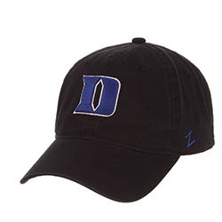 (Zephyr Duke University DU Dukies Blue Devils Black Scholarship Relaxed Unstructured Adult Mens/Boys/Womens Adjustable Hat/Cap)