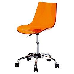 scoop orange office chair swivel seat amazon co uk kitchen home