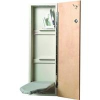 Iron-A-Way NE-342 42 inch built in wall mounted ironing Center with Flat Birch Door, Non Electrical