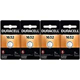 (4 Pcs Fresh Duracell Lithium Battery ECR1632 CR1632 DL 1632 3V Batteries)