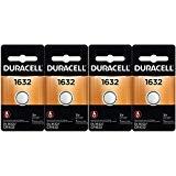4 Pcs Fresh Duracell Lithium Battery ECR1632 CR1632 DL 1632 3V ()
